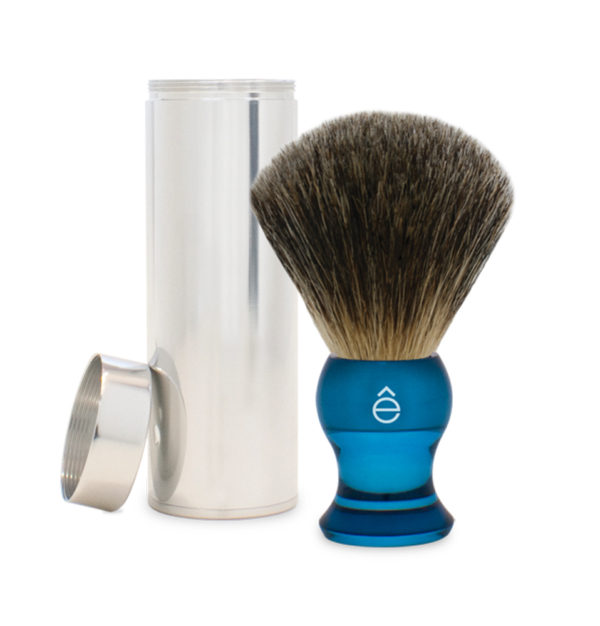 Fine Travel Shaving Brush Blue-eShave