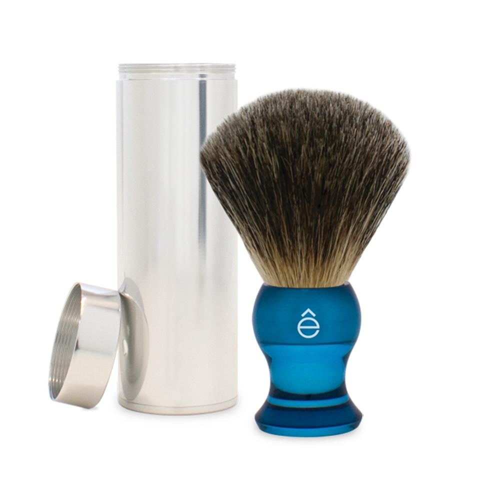 Fine Travel Shaving Brush Blue-eShave