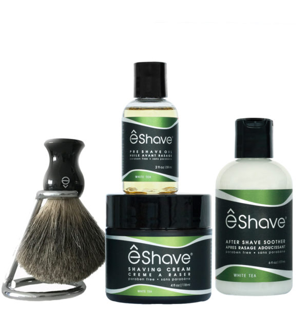 solution shaving set white tea black