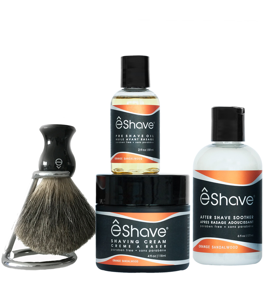 solution shaving kit orange sandalwood black